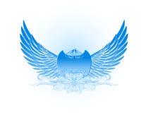 Decoratieve Vleugels in Blauw Royalty-vrije Stock Afbeelding