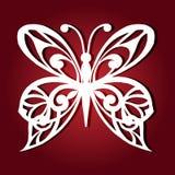 Decoratieve vlinder voor laserknipsel royalty-vrije illustratie