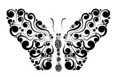 Decoratieve vlinderillustratie Royalty-vrije Stock Afbeelding