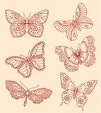 Decoratieve vlinders Stock Afbeelding
