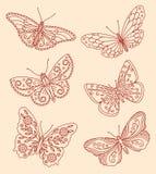 Decoratieve vlinders Stock Fotografie