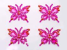 Decoratieve vlinders Royalty-vrije Stock Foto's