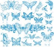 Decoratieve vlindertatoegering Royalty-vrije Stock Afbeelding