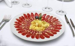 Decoratieve voedselvertoning Stock Afbeelding