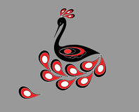 Decoratieve vogel Stock Foto's