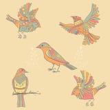 decoratieve vogels Stock Foto's