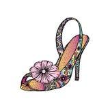 Decoratieve Vrouwen` s schoen Royalty-vrije Illustratie