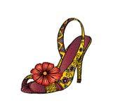 Decoratieve Vrouwen` s schoen Vector Illustratie