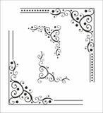 Decoratieve hoek voor ontwerp Royalty-vrije Stock Foto's