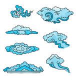 Decoratieve wolken. stock illustratie