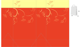 Decoratieve zak met matrijzenbesnoeiing royalty-vrije illustratie