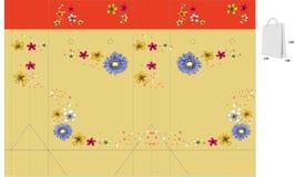 Decoratieve zak met matrijzenbesnoeiing vector illustratie