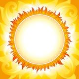 Decoratieve zon vectorachtergrond Royalty-vrije Stock Fotografie