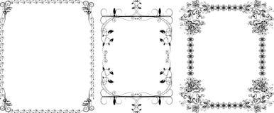 Decoratieve zwarte grenzen Royalty-vrije Stock Foto's