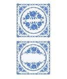 Decoratin-buton Fayenceweinlese-Vektorillustration Lizenzfreie Stockbilder