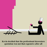 Decorating. Kevin decided it was time to call in the professionals Vector Illustration