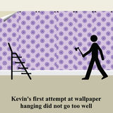 Decorating. Kevins first attempt at wallpaper hanging did not go well Stock Photography
