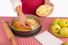 Decorating apple pie Stock Photography