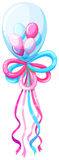 Decorating balloons in blue and pink Stock Images