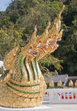 Decorating the Buddhist temple in the palace grounds in Luang Prabang stock photo