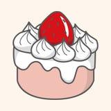 Decorating cake flat icon elements background,eps10 Royalty Free Stock Photos