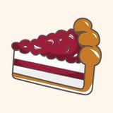 Decorating cake flat icon elements background,eps10 Stock Images