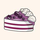 Decorating cake flat icon elements background,eps10 Royalty Free Stock Photography