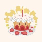 Decorating cake flat icon elements background,eps10 Stock Photo