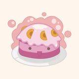 Decorating cake flat icon elements background,eps10 Royalty Free Stock Photo