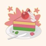 Decorating cake flat icon elements background,eps10 Stock Image