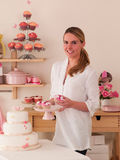 Decorating Cakes Stock Photo