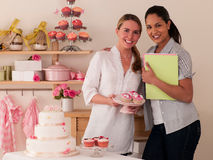 Decorating Cakes Royalty Free Stock Photography