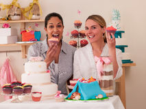 Decorating Cakes Stock Image