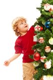 Decorating Christmas Royalty Free Stock Photo