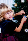 Decorating of Christmas tree 6 Stock Photos