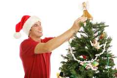 Decorating Christmas Tree - Treetop Angel Stock Images