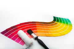 Decorating colour swatches Royalty Free Stock Photos