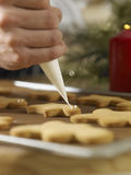 Decorating cookies Stock Photography
