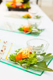 Decorating desserts and food Stock Photo