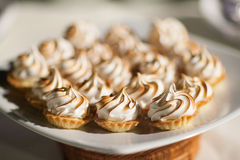 Decorating desserts. Stock Photos