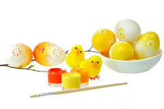 Decorating Easter eggs Royalty Free Stock Photography
