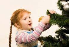Decorating fir tree Stock Photos