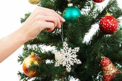 Decorating firtree Stock Photography