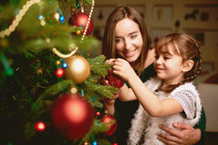 Decorating firtree Royalty Free Stock Photography