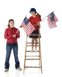 Decorating with Flags Royalty Free Stock Photos