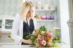 Decorating the floral piece of art Stock Images