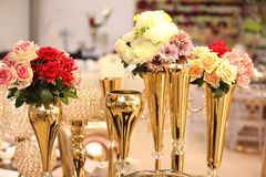 Decorating Flowers on the Table royalty free stock images
