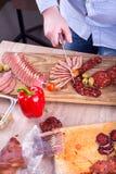 Decorating food Royalty Free Stock Photos
