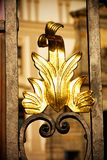 Decorating for gate. Decorating on a metal gate gate, detail gate to prague castle Stock Photos