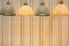 Decorating hanging lantern lamps Royalty Free Stock Image
